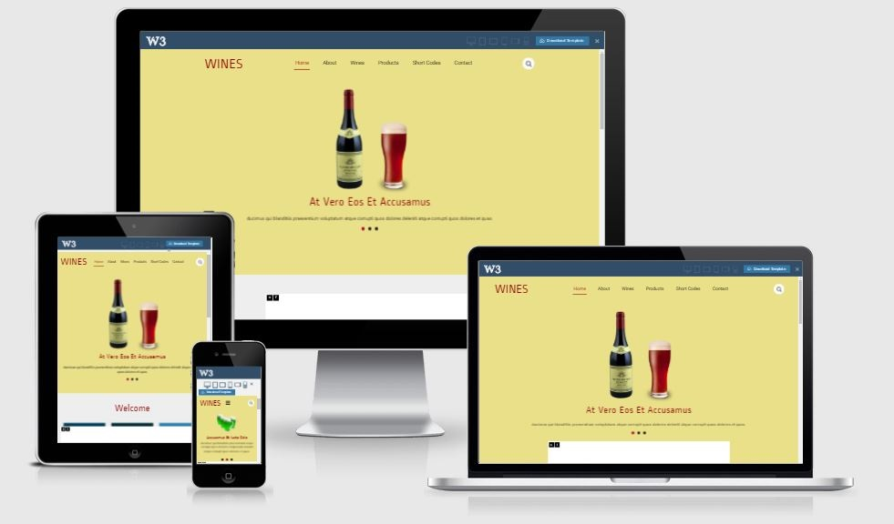 Wines - A Bootstrap based free restaurant template