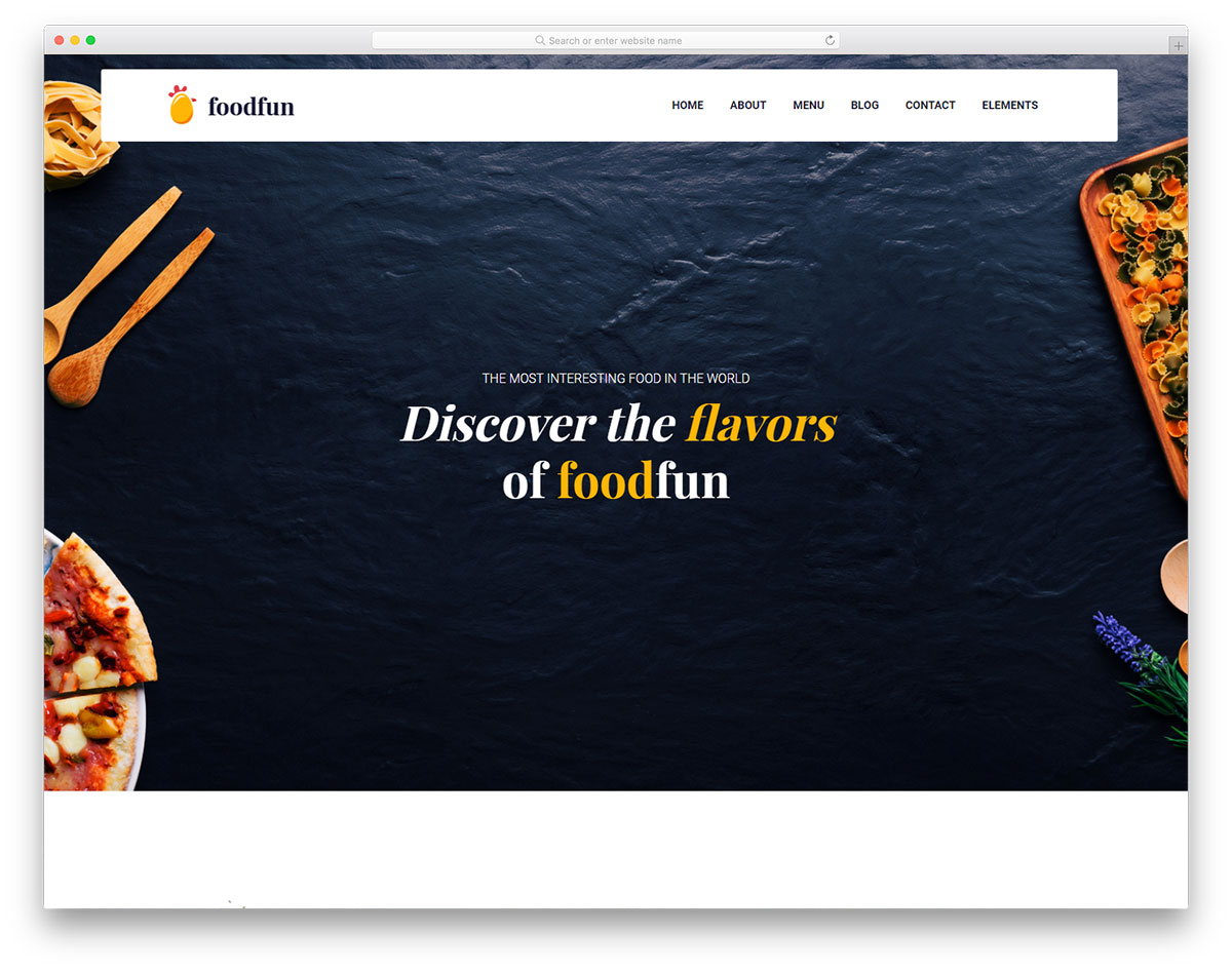 Foodfun free template restaurant