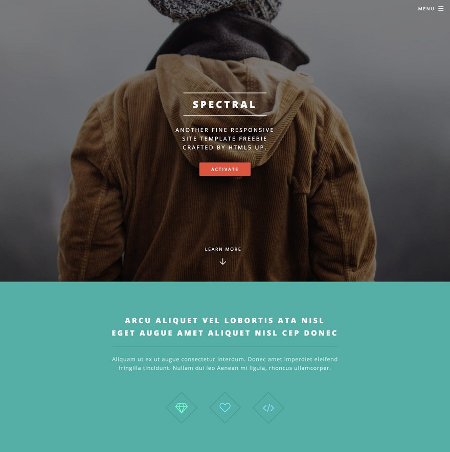 Spectral HTML Template