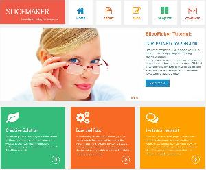 Metro Style Web Page Template