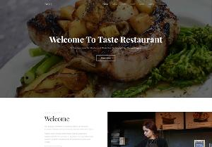 Taste Engaging Free Bootstrap 4 - A Bootstrap based free restaurant template