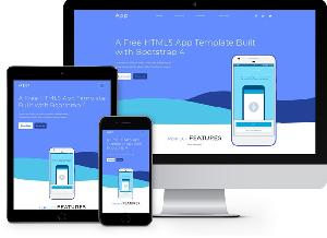 App: Free HTML5 App Template Built with Bootstrap 4