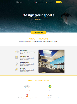 Sports Free CSS Template