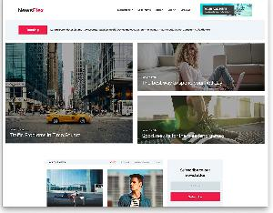 NewsFlex free news magazine website template