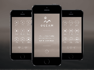 Oceam theme PhoneGap & Cordova Mobile App