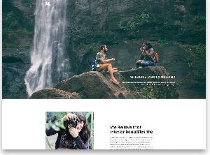 Photography free website template