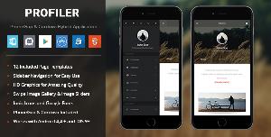 Profiler theme PhoneGap & Cordova Mobile App