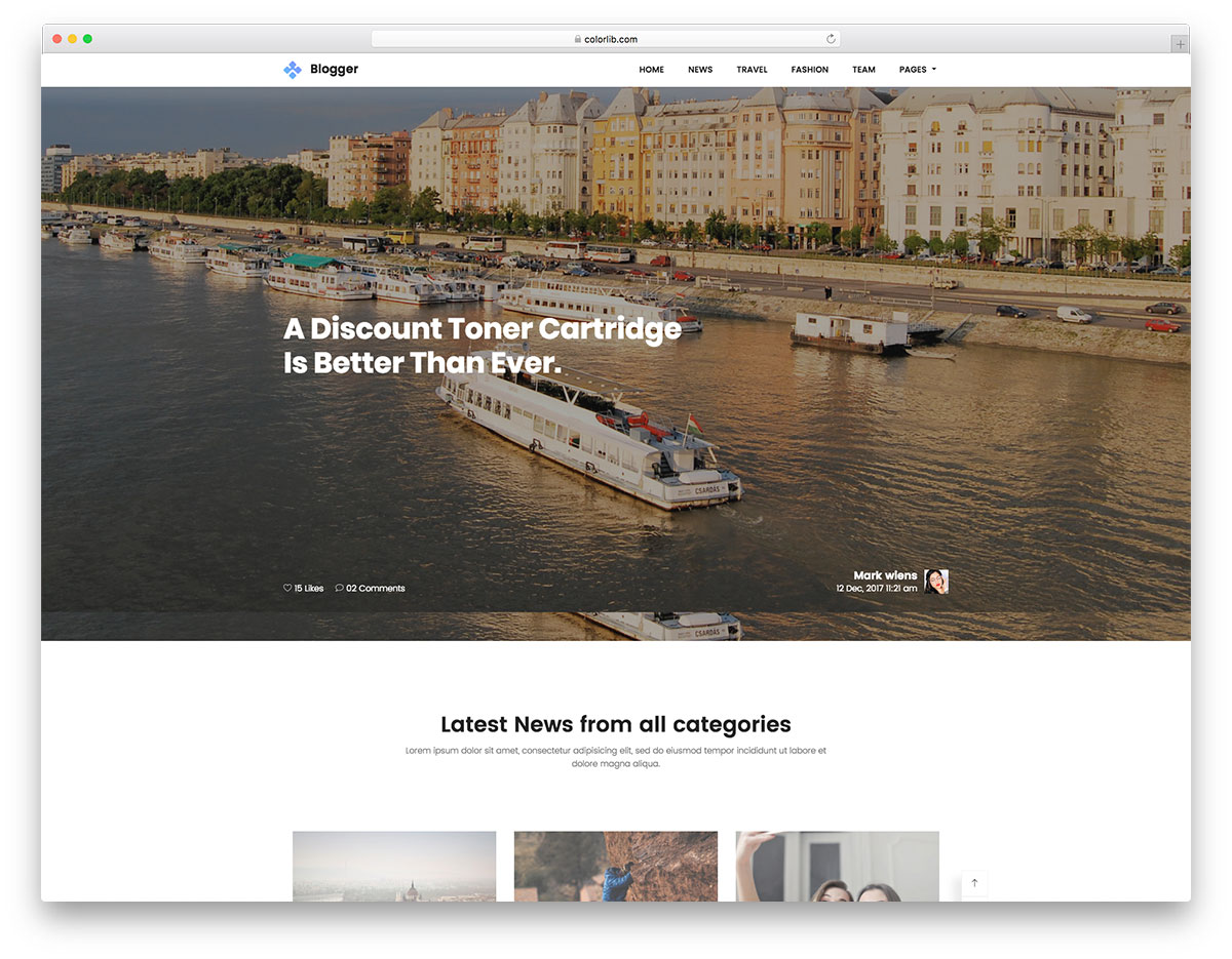 Blogger free template
