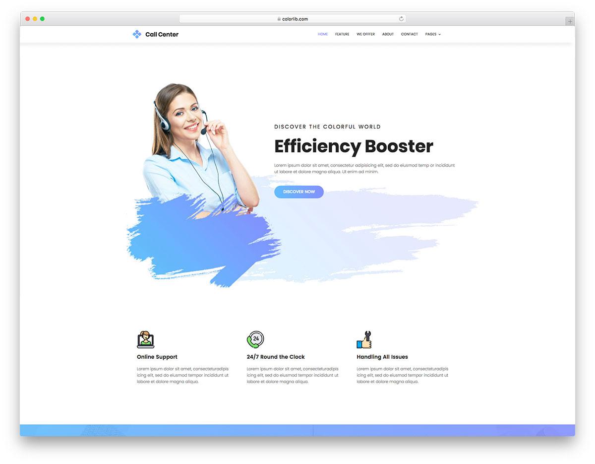 CallCenter free template