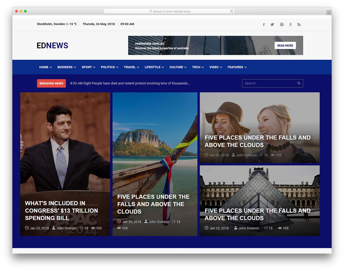 Ednews free template