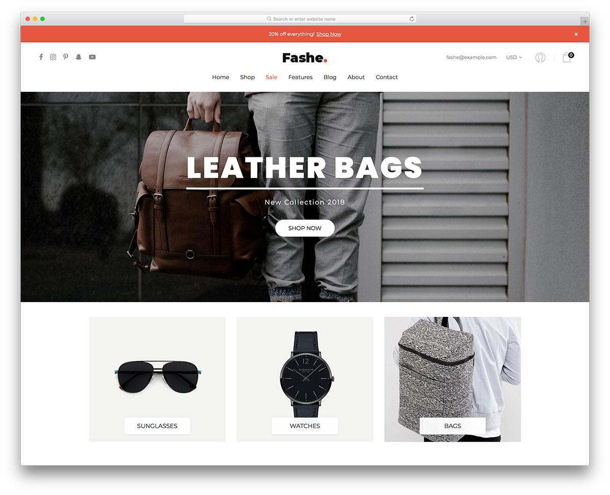 Fashe ecommerce website templates