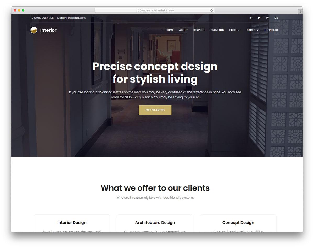 Interior free template