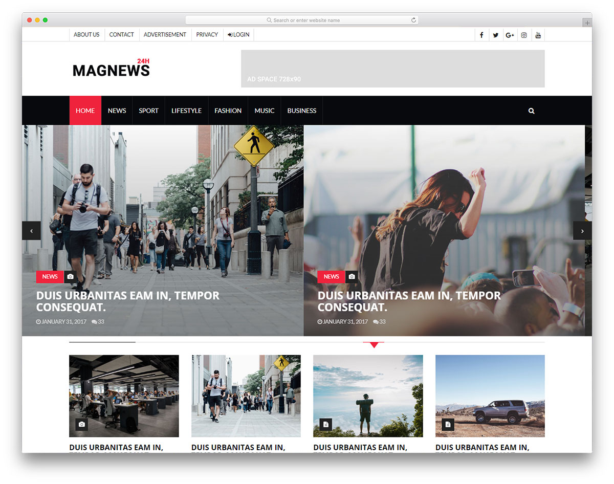 Magnews free template