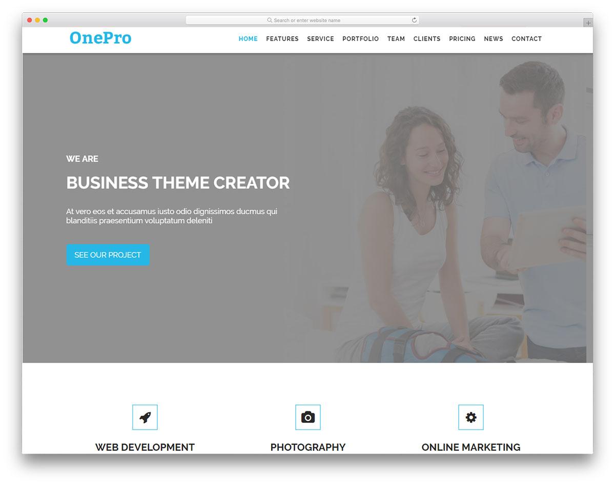 OnePro free template
