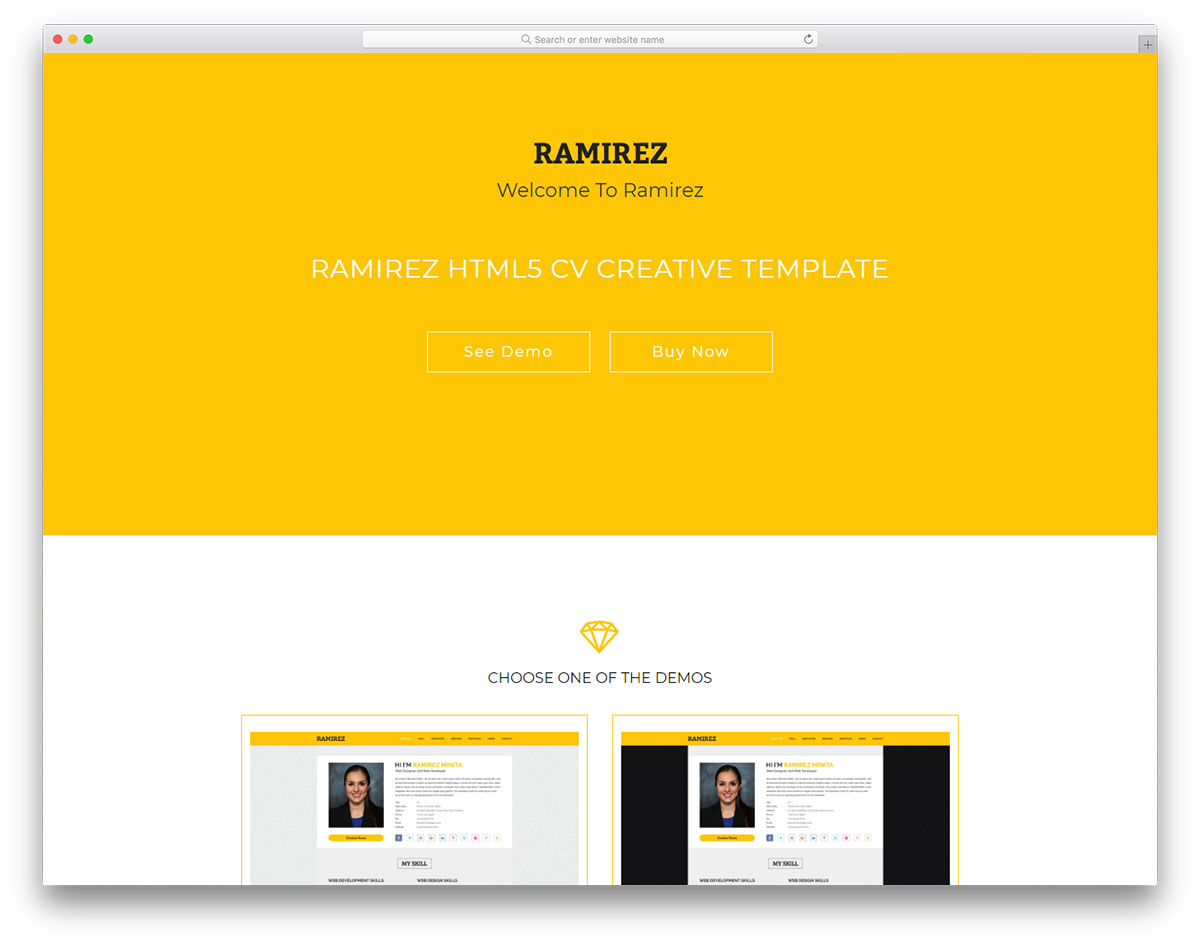 Ramirez free template