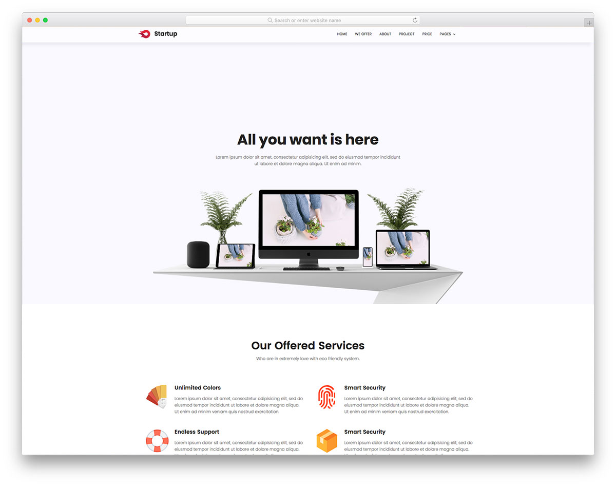 Startup free template