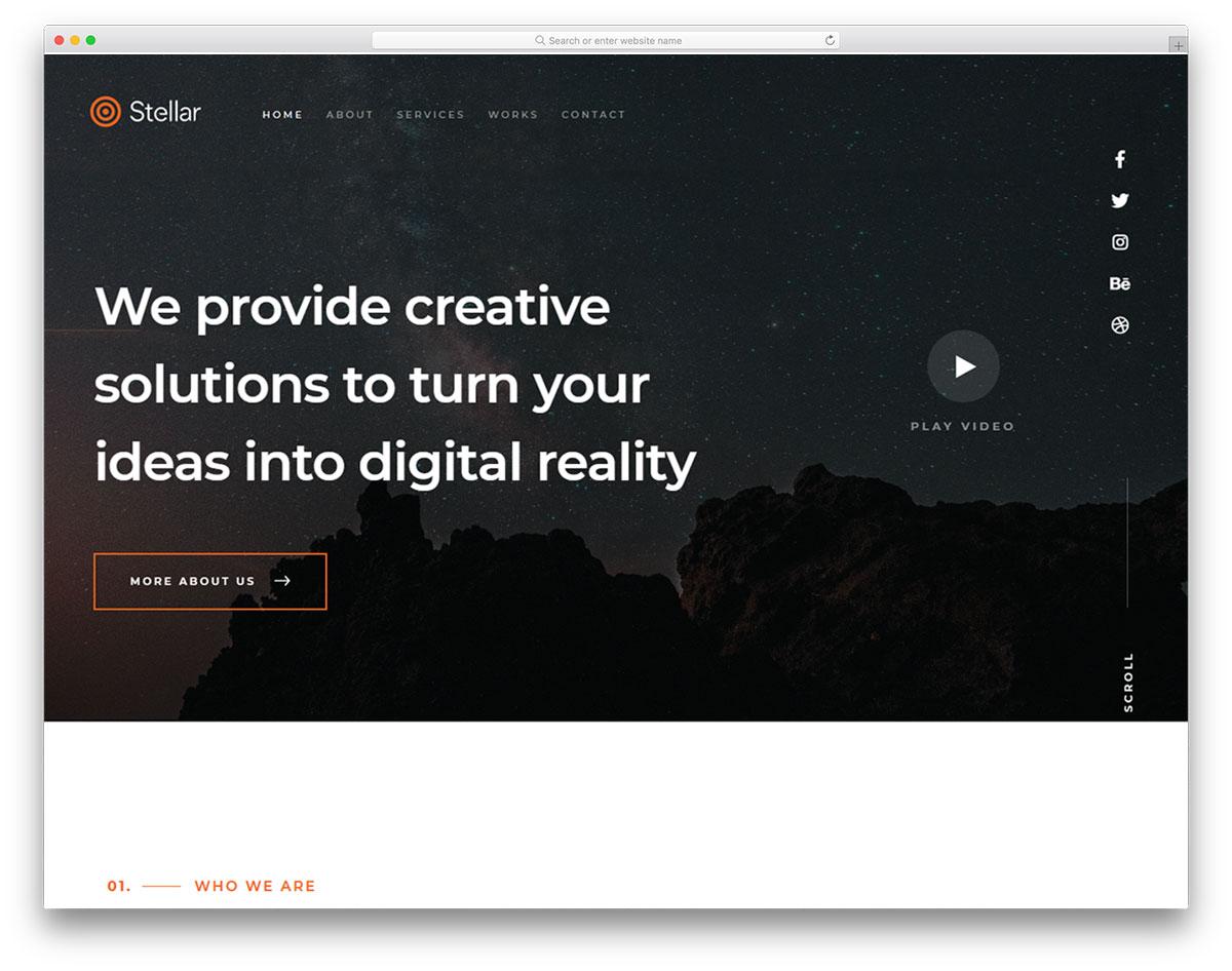 Stellar free template