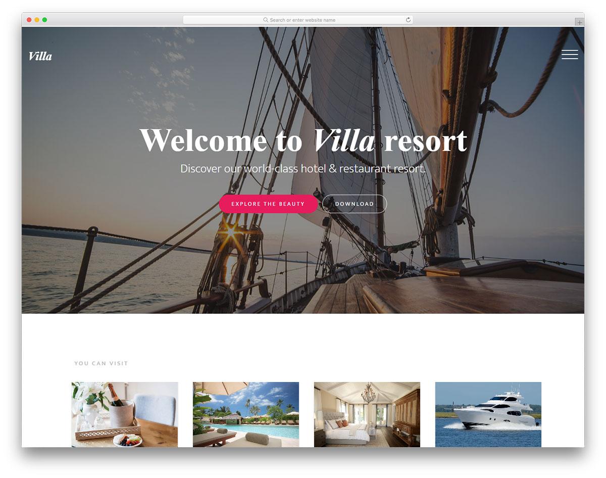Villa free template