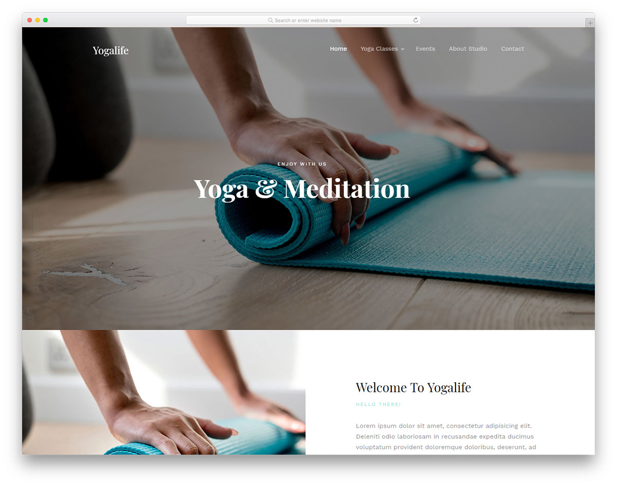 Yogalife Free Website Templates