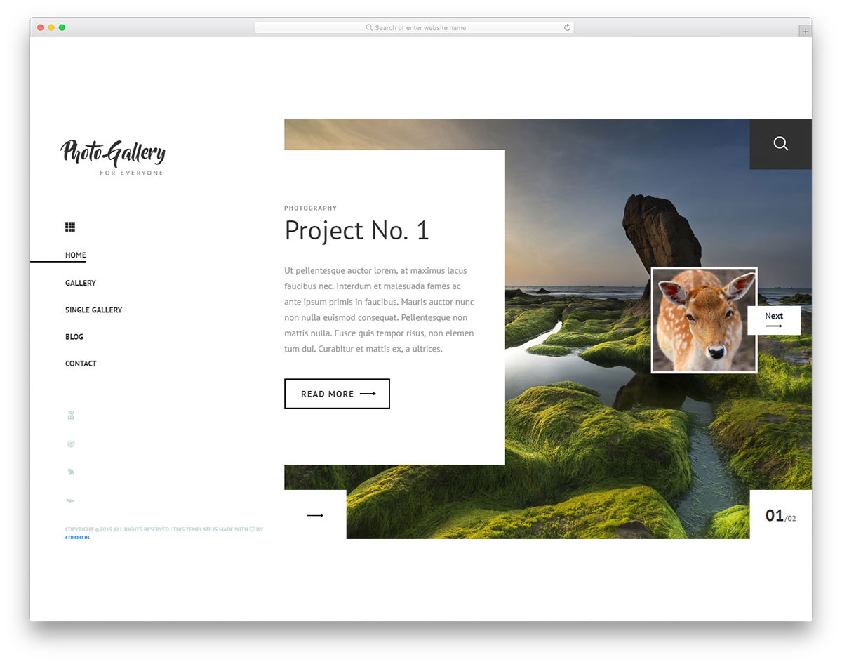 PhotoGallery for photographer